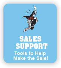 Button for Sales Support Login Screen